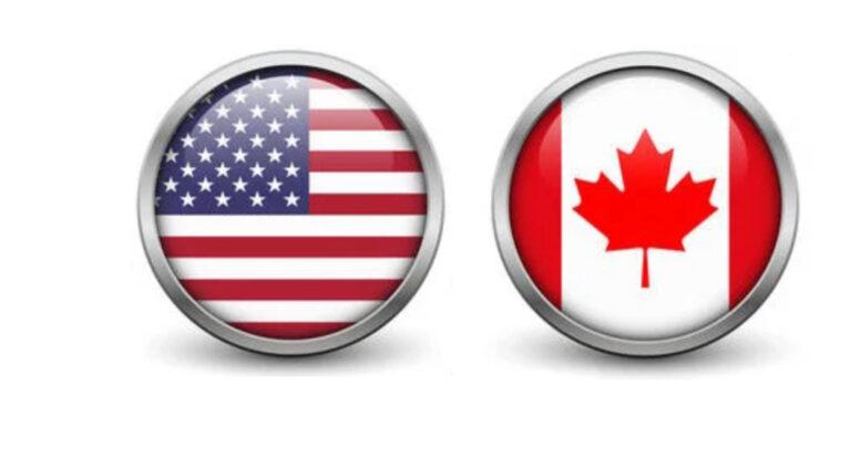 Flags Usa Canada 1